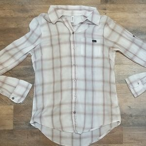 RVCA Lightweight Plaid Button Front Shirt